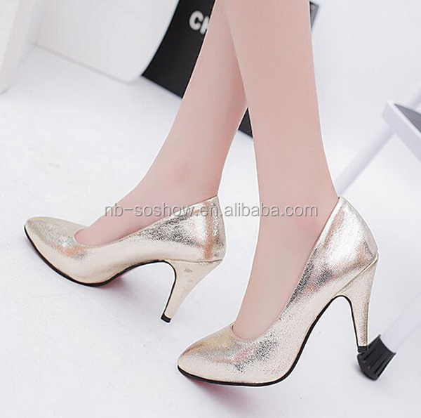 8e2748bb41a Golden Color Pointed Toes Beautiful Ladies Small Size Cheap Party Wear High  Heels - Buy Cheap High Heels,Small Size High Heels,Party Wear High Heels ...