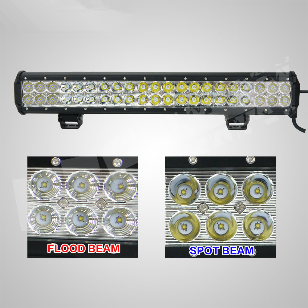 New 126w led light bar cr ee led light bar 126w 20inch car wholesale