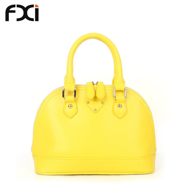 Get Quotations · 2015 mini shell bag small genuine leather designer handbags  yellow evening clutch bolsas de couro borse