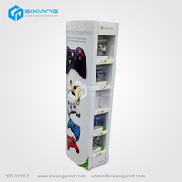 4 Color Printing Corrugated Tiers Display Shelf Standing for Toy Game Machine Display