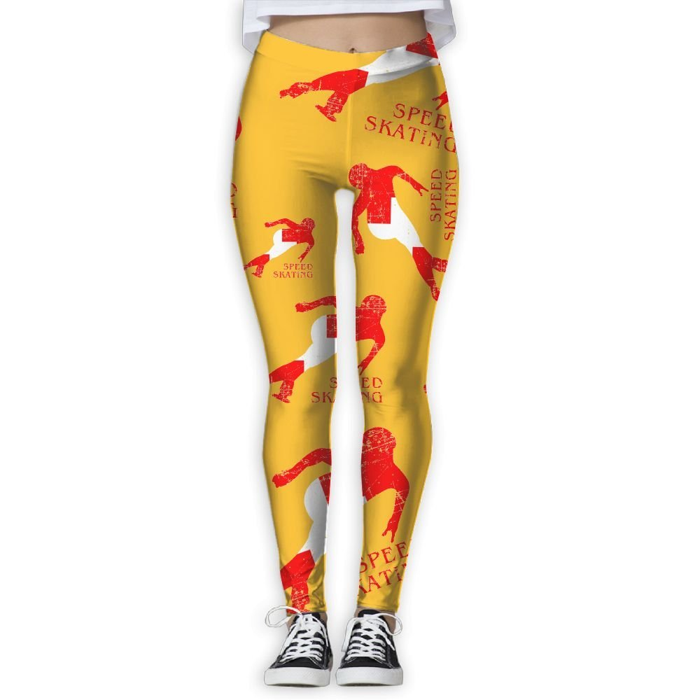 5dfb116998 Get Quotations · Swiss Flag Speed Skating Women Yoga Pants Running Workout  Leggings