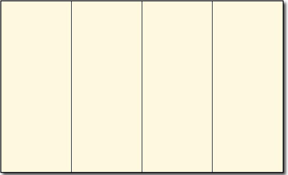 """8 1/2"""" x 14"""" 4 Panel Cream Brochures - 250 Brochures"""