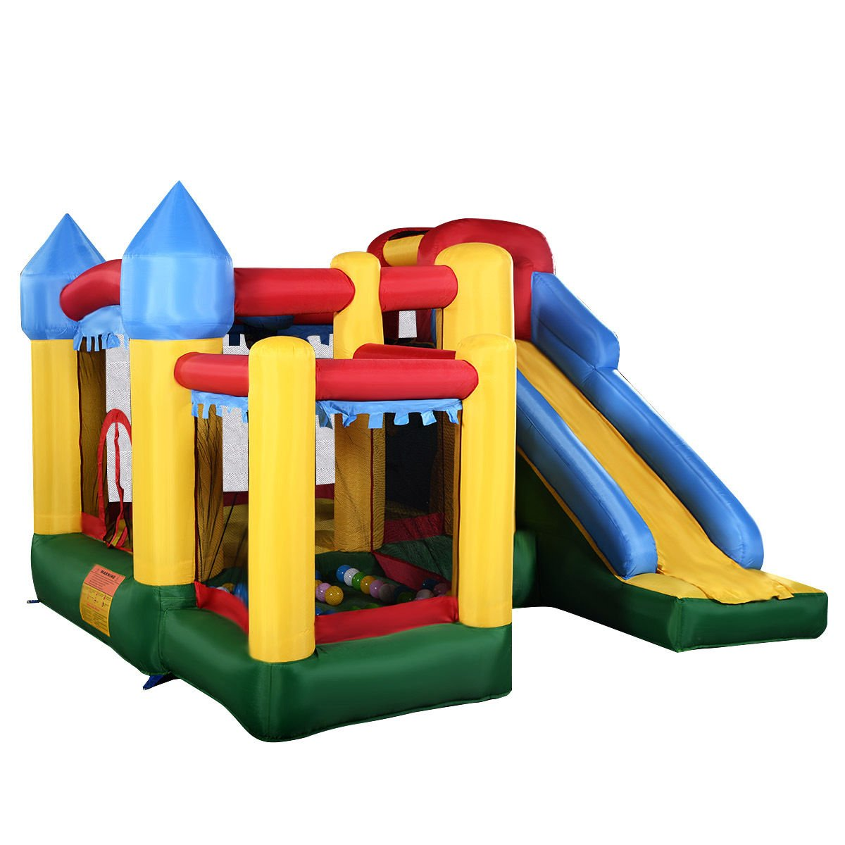 Costzon Mighty Inflatable Bounce House Castle Jumper Moonwalk Bouncer Without Blower
