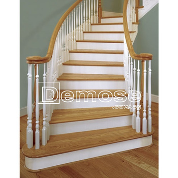 Wood Pillar Design For Indoor Wooden Stair Railing