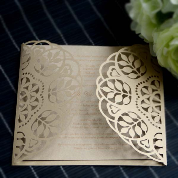 Hot stamping paper chinese custom wedding invitation card price paper flowers for scrapbooking