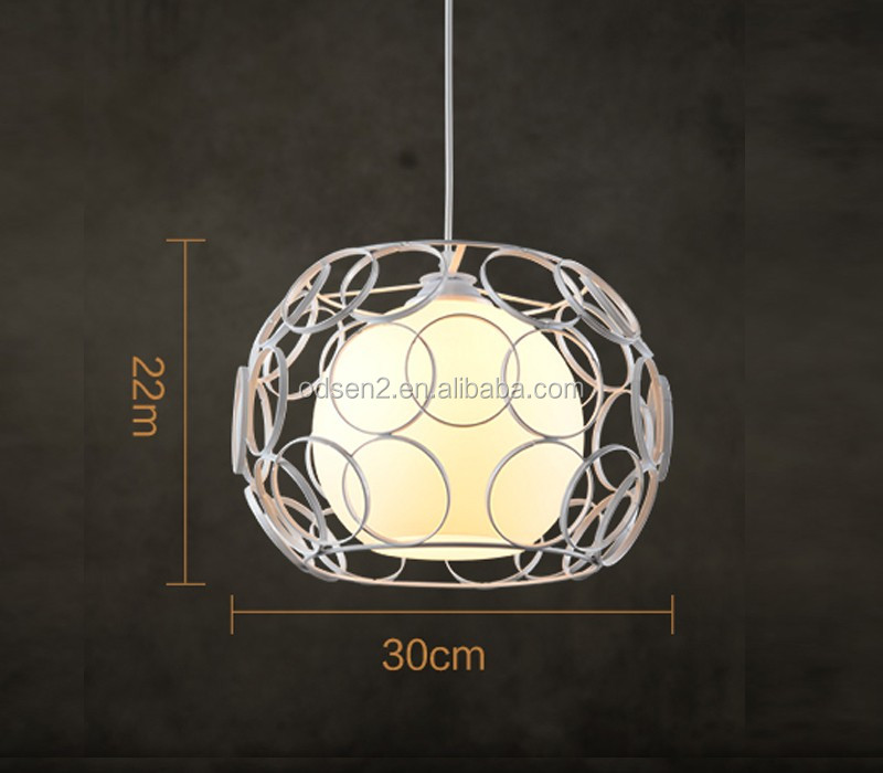 Hanging Pendant Light Art Deco Modern Cage Ceiling Light