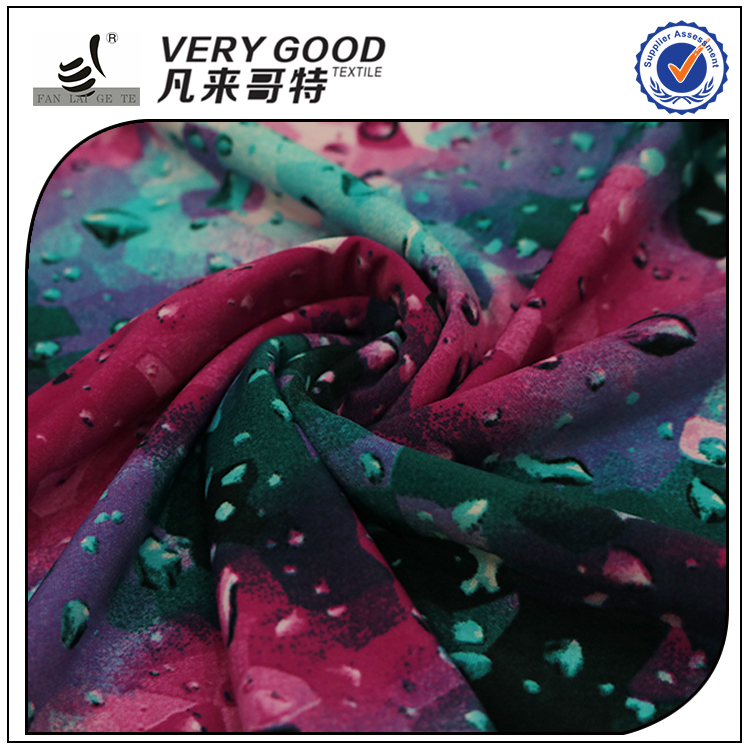 China factory outlet direct DTY printed polyester warp knitted fabric