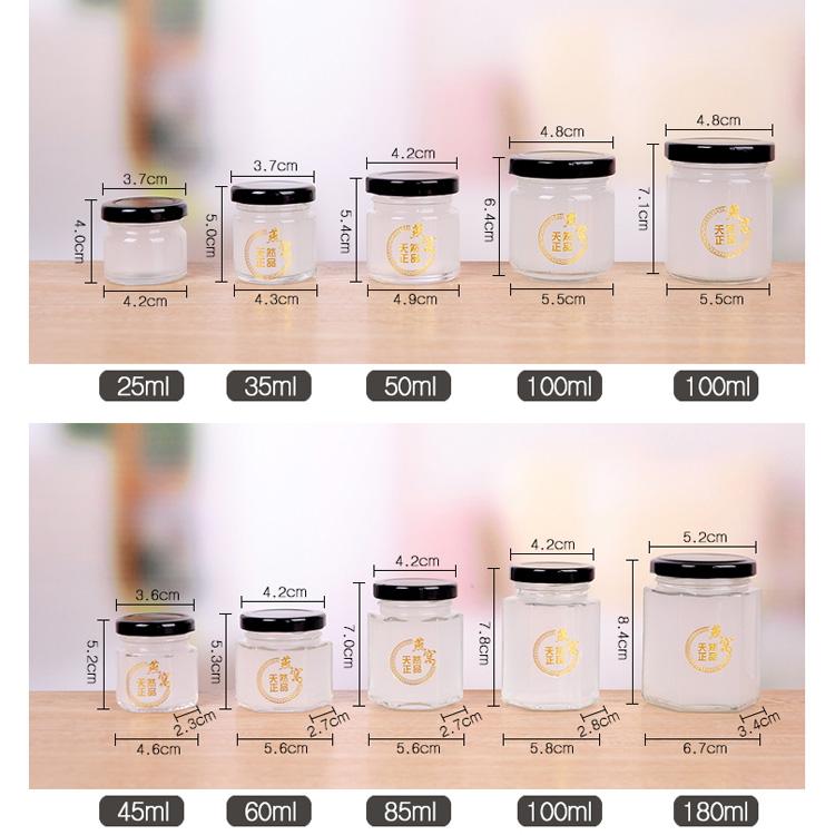 1oz 2oz 4oz 6oz 8oz 10oz 12oz 15oz 16oz mini glass jars for honey