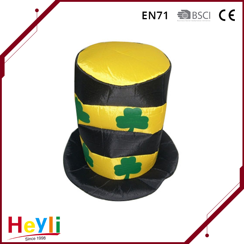 On sale black and yellow striped with clover pattern St. Patrick's Day top hat