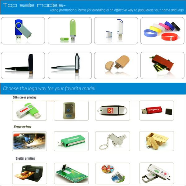 China factory promotion gift custom transcend pen drive