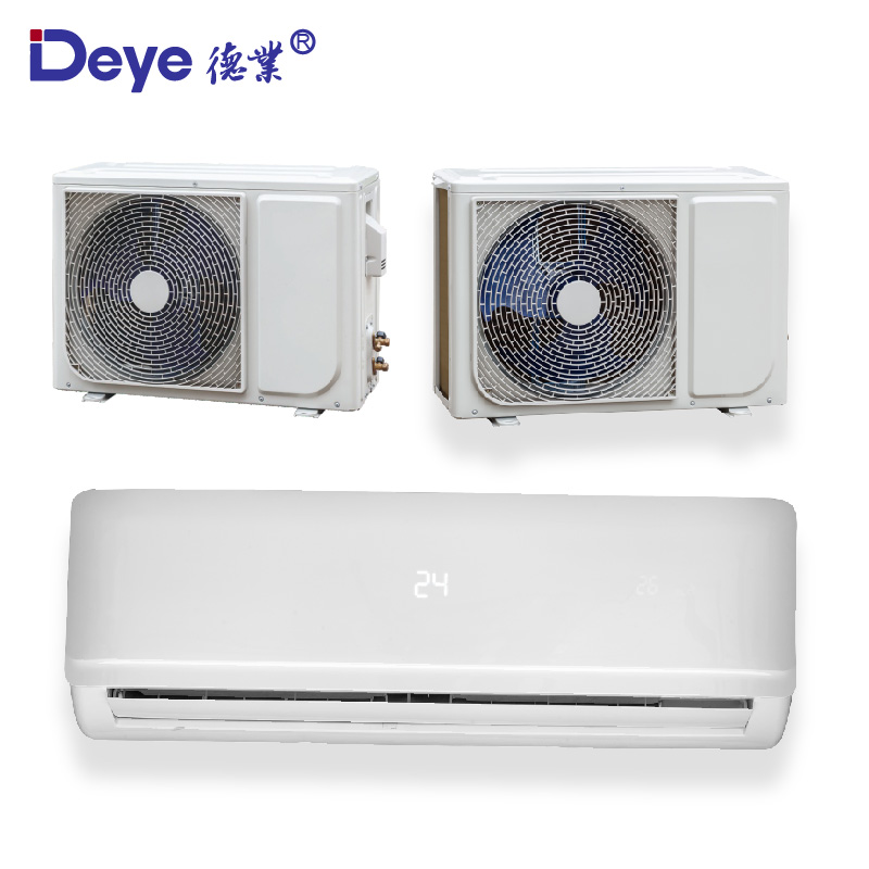 money saving DC AC hybrid power wall split frequency conversion solar ac air conditioner