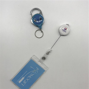 badge reel with ball pen,id card holder with pen