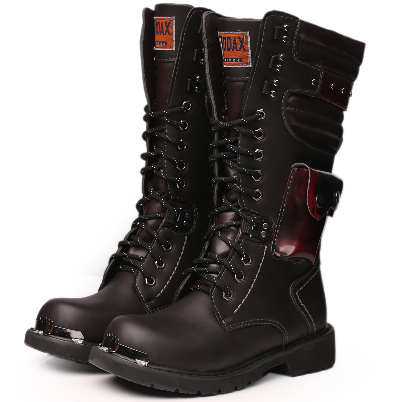 Wholesale Goth Punk Rock Man S Knee High Motorcycle Boots