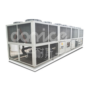 CE R22,R134a,R407c,R404a refrigerant 286 KW Industrial Air Cooled Screw Chiller