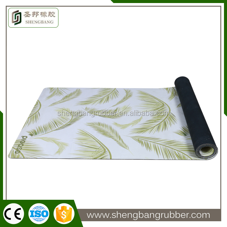 private label sublimation custom digital printed natural rubber fitness <strong>eco</strong>
