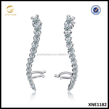 Fashion Gold Plated 925 Sterling Silver Ear Cuff, Cuff Earring