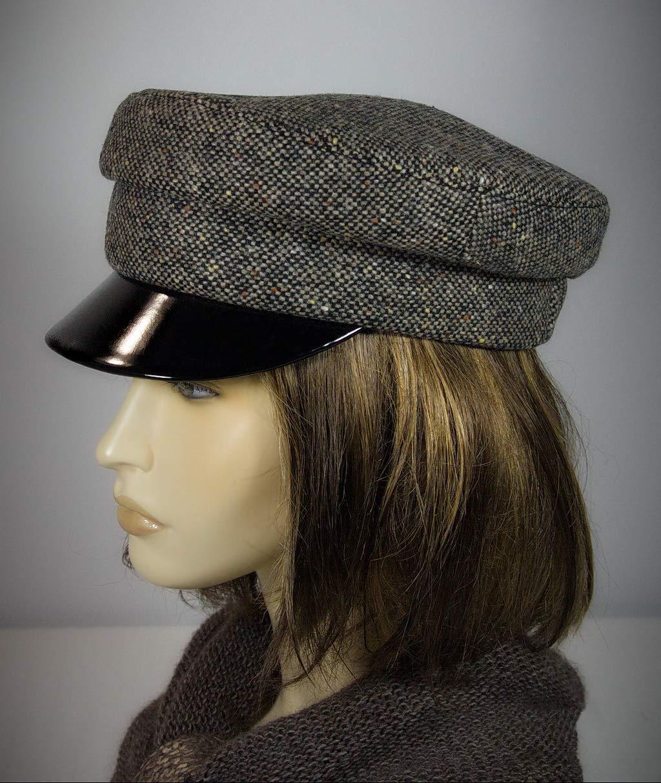 Breton Hat, Baker Boy Style Hat, Mariner Breton Cap, Baker Cap, Captains Hat, John Lennon Cap, Baker Boy Cap, Breton Hat, Grey Breton Hat.