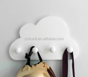 White Cloud Nursery Coatrack Kids Coat Rack Wooden Wall Hook For Children