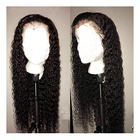Baoli Factory virgin indian colored water wave lace front wigs,9A Glueless full lace wig human hair with baby hair