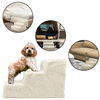 3 Steps Ladder collapsible ramp bed dog pet doggy stairs for Small Dogs and Cats, Portable Pet @
