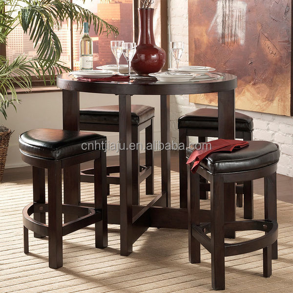Wood Furniture Brown 5-piece Counter Height Pub Dining Set/Bar Set