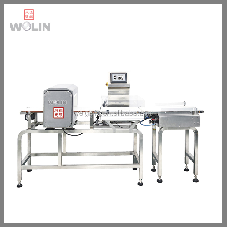 Latest competitive combo weight checker metal detector food packing line quality inspecting equipment