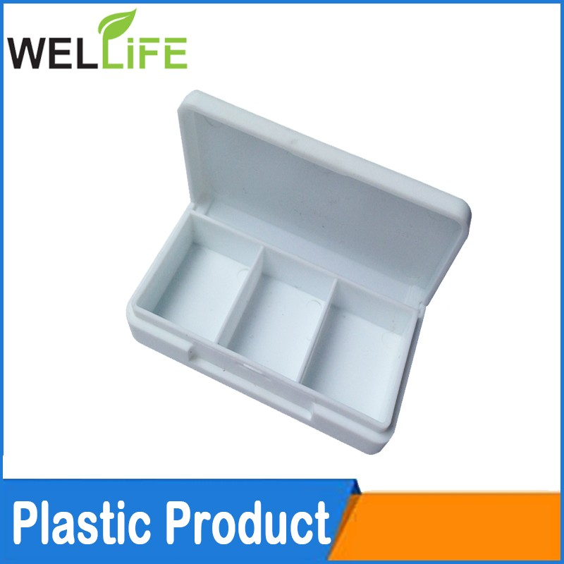 Promotional plastic oval shaped medicine storage pill box In 2/3/4/7/28 case