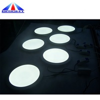 2019 Factory Direct Sell IP50 Two Color Round Panel Led Light Smd 3014 Led Light For Decoration