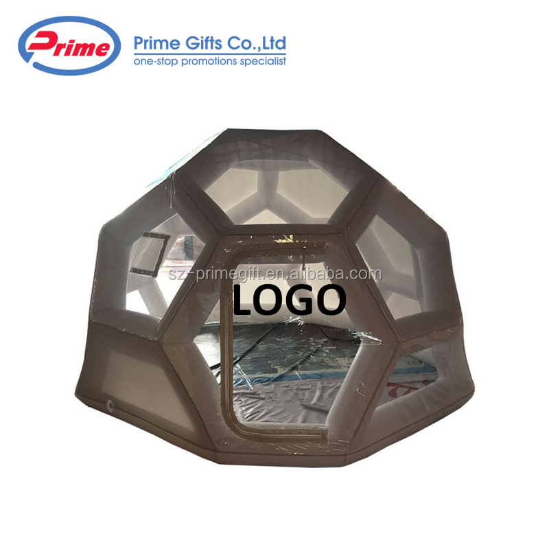 New Style Single Wall Inflatable Camping Cube Tent with Custom Logo
