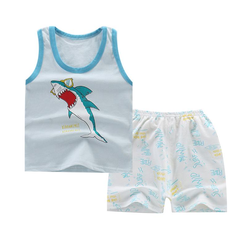 安い子供ボーイズコットン女の赤ちゃんパンツ中国工場卸売バレンタインデー服セット