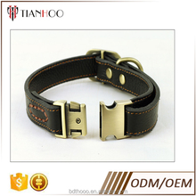 customized leather dog collar with snap joint buckle