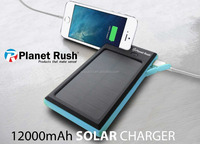 Portable Solar Charger, X-DRAGON 12000mAh Solar Panel Power Bank Battey Charger for cell phone