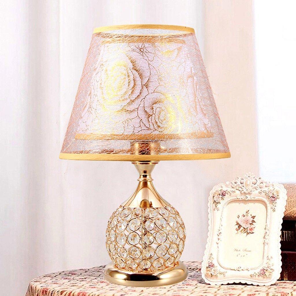 WENBO HOME- Bedside Lamp Bed Lamp Crystal European Luxury Table Lamp Creative Warm Bedroom Decoration Lamp -Desktop lamp