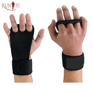 New Weight Lifting Gloves with Built-In Wrist Wraps, Full Palm Protection & Extra Grip