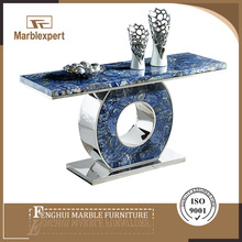 Natural marble blue onyx cheap modern console table