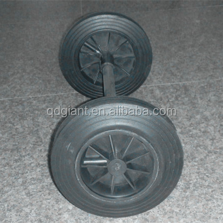 8inch solid rubber garbage wheels