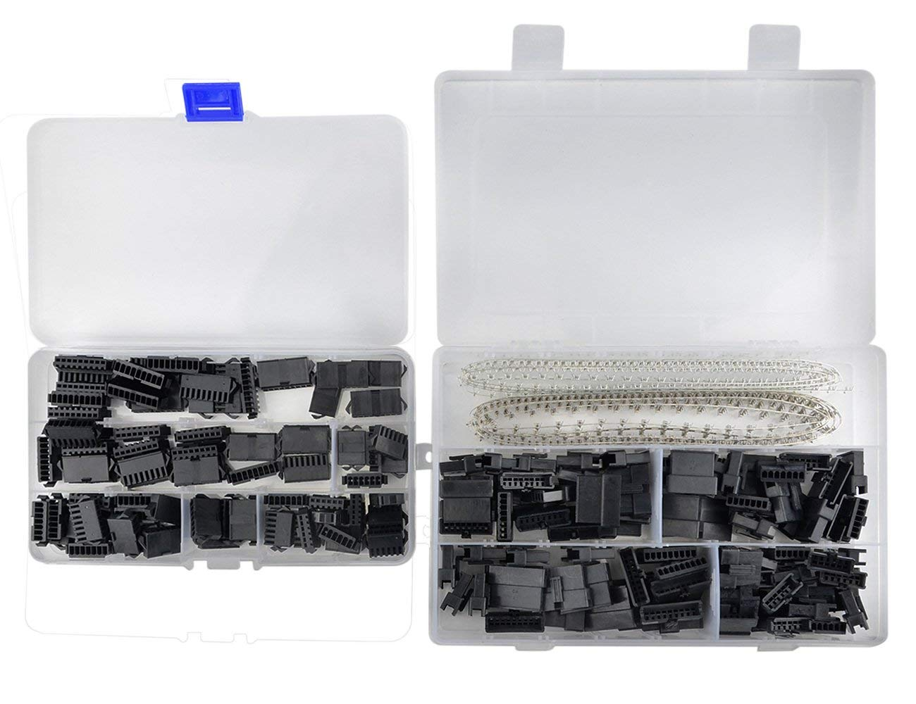XLX 560Pcs 2.5mm Pitch JST-SM 6/ 7/ 8/ 9 Pin Male / Female Plug Housing and Male / Female Pin Header Crimp Terminal Connector Assortment Kit ( 4 Size, 80 Set, each 20 Set )