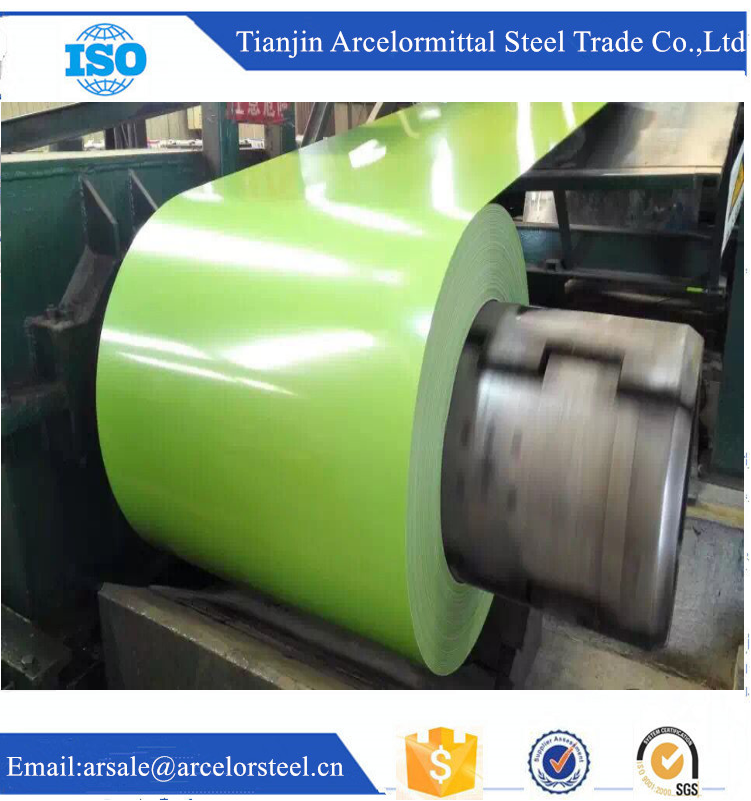 Trade Assurance Z60g 0.35 SGCC Prepainted Galvanized Steel Coils PPGI Coils for Roofing Sheet Materials Trading