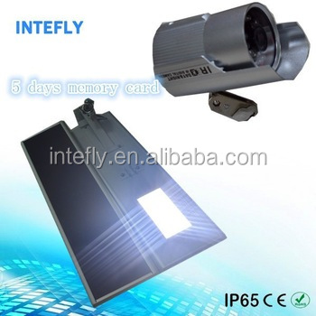 2 years warranty solar ip camera with led street light