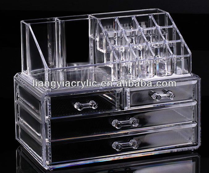 Cosmetic Organizer Makeup Drawers Display Box,Acrylic Clear Cabinet Case  Set   Buy Clear Plastic Drawers Cosmetic Organizer,Clear Plastic Drawers  Cosmetic ...
