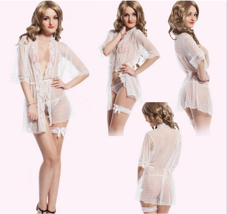 a541988d0863 Get Quotations · 2015 Feminino pijama woman sexy erotic langerie dresses  new white transparent sleep wear sexy lingerie night