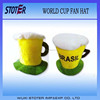 Brazil Fans Beer Mug Football Fans Hats