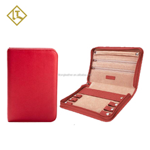 Newest sale different styles gold china supplier custom design lady genuine leather jewelry pouch bag