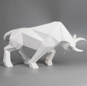 High quality small decorative resin plastic cow figurines
