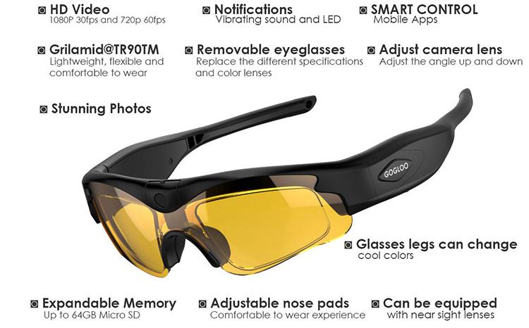 ed39a1127c5ac OEM factory new wifi HD spy sunglasses camera