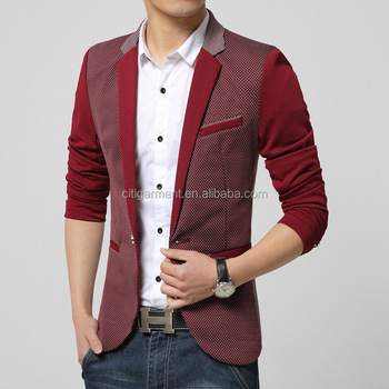 New Fashion Mens Slim Fitted Blazer Stylish Casual one Button Printed Suit  Coat Jacket Blazer M 381f9e513f95