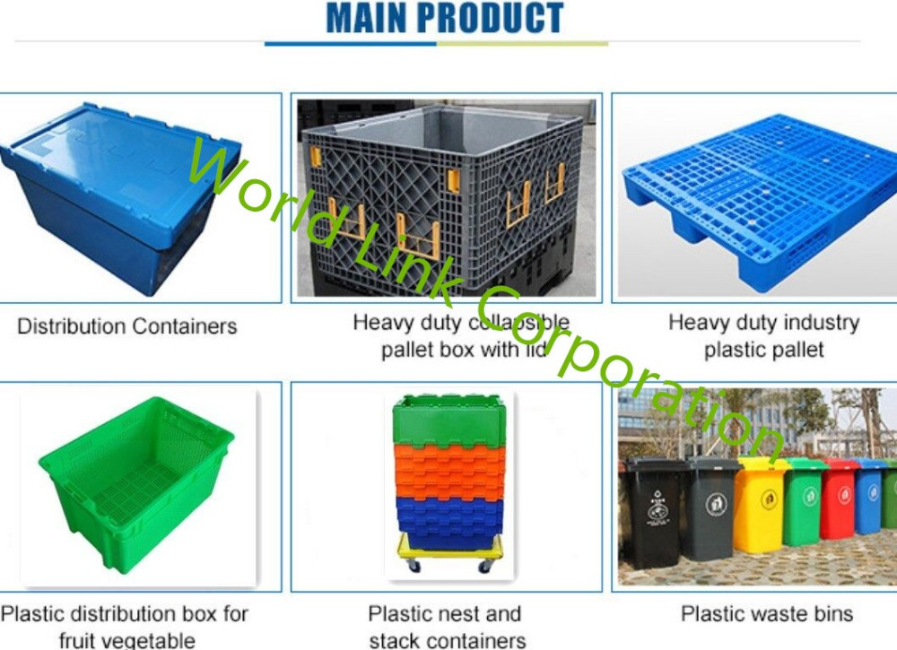 With Skate Transporting Virgin HDPE Fruit Meshed Container
