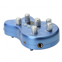 custom aluminum housing electric blue guitar effect pedal enclosure