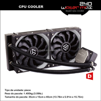 Alseye AA0216 manufacture computer liquid cooling cpu water cooler 240 pc case fan 2 x 120m