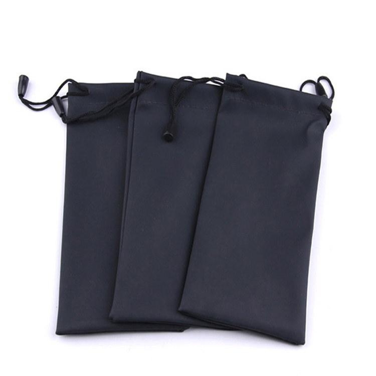 Black Durable Dustproof Microfiber sunglasses pouch soft eyeglasses bag glasses Eyewear Accessories